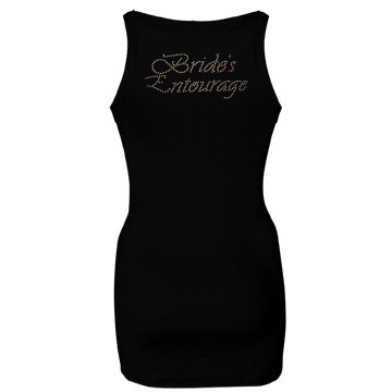 Bride's Entourage Junior Fit Bella Sheer Longer Length Rib Strap Tank Top