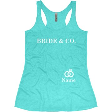 Bride & Co. Ring Junior Fit Bella Sheer Longer Length Rib Tee