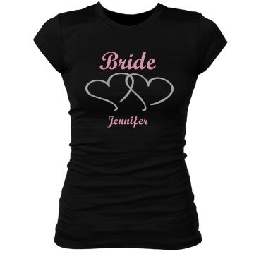 Bride Tee Junior Fit Bella Sheer Longer Length Rib Tee