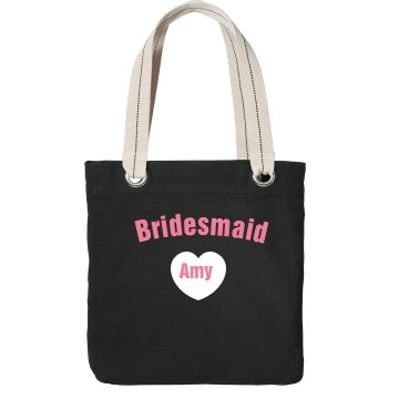 Bridesmaid Tote Port Authority Color Canvas Tote