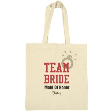 Team Bride Bag Liberty Bags Canvas Bargain Tote Bag