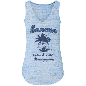 Cancun Honeymoon Tank Misses Relaxed Fit Basic Anvil Heavyweight Tank Top