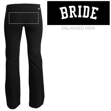 Bling Bride w/ Pink Ring Junior Fit Soffe Yoga Pants