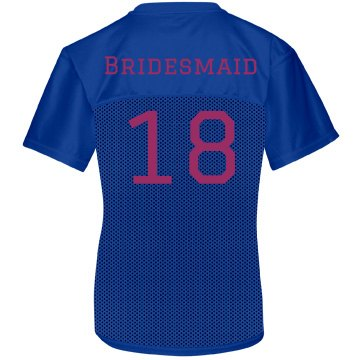 Bridesmaid Jersey Junior Fit Soffe Mesh Football Jersey