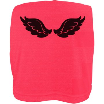 Wing-Girl w/Back Misses American Apparel Neon Oversized Crop Tank