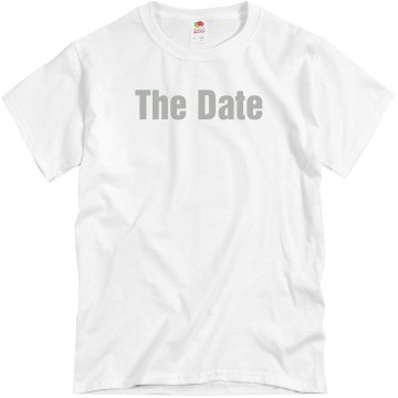 Save The Date w/Back Unisex Basic Gildan Heavy Cotton Crew Neck Tee