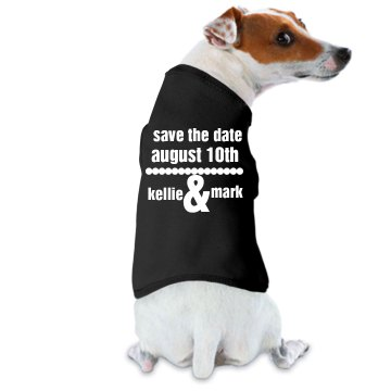 Save the Date Dog Doggie Skins Dog Ringer Tee