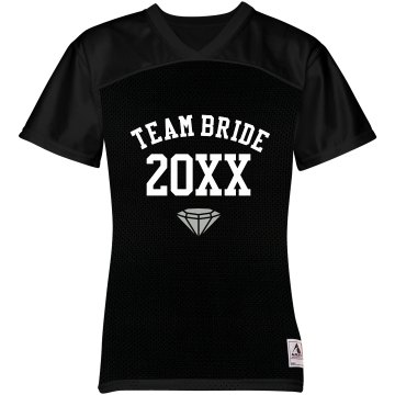 Team Bride Jersey w&#x2F;Back Junior Fit Soffe Mesh Football Jersey