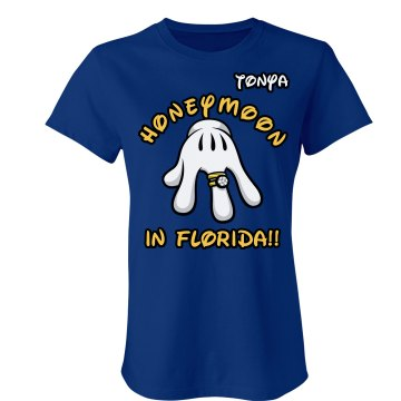 Honeymoon in Florida Junior Fit Bella Crewneck Jersey Tee