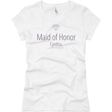 Maid of honor bridesmaid Junior Fit Basic Bella Favorite Tee