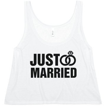 Just Married Misses American Apparel Neon Oversized Crop Tank
