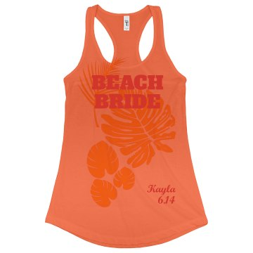 Tropical Beach Bride Tank Top