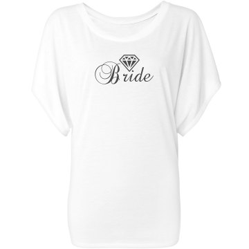 Bride Fashion Tee Misses Bella Flowy Draped Sleeve Dolman