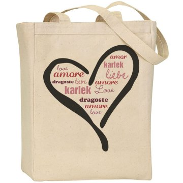 Language of Love Liberty Bags Canvas Tote Bag
