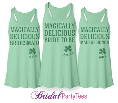 8283f0233 Magically Delicious Bachelorette Party Shirts